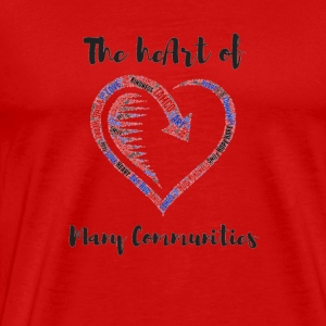 TAMCO The heArt of Many Communities (black letter) - Men's Premium T-Shirt