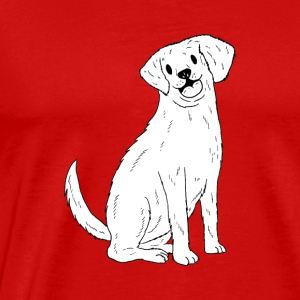 A Cute Golden Retriever Design - Men's Premium T-Shirt