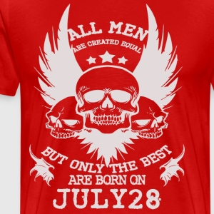 The Best Men Are Born On July 28 - Men's Premium T-Shirt
