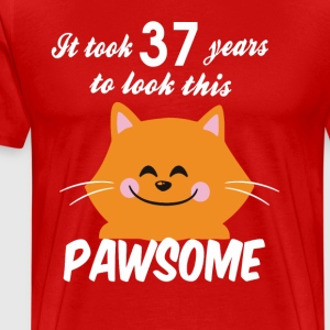 It took 37 years to look this pawsome - Men's Premium T-Shirt