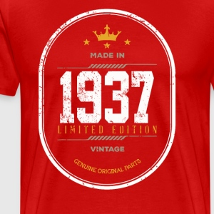 Made In 1937 Limited Edition Vintage - Men's Premium T-Shirt