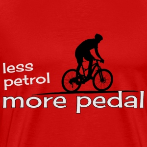 ecological cicling less petrol more pedal present - Men's Premium T-Shirt