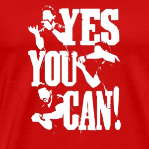 yes you can - Men's Premium T-Shirt