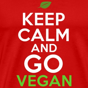 Keep Calm And Go Vegan Veganism - Men's Premium T-Shirt