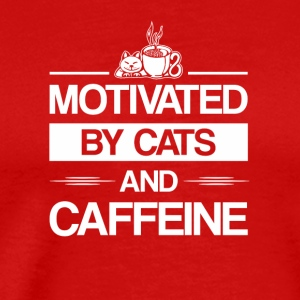 Motivated By Cat Caffeine Cat Caffeine - Men's Premium T-Shirt