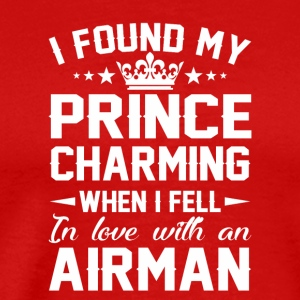 Found Prince Charming Fell Love Airman - Men's Premium T-Shirt