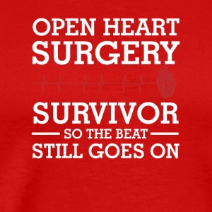 Open Heart Surgery Survivor Beat Goes On - Men's Premium T-Shirt