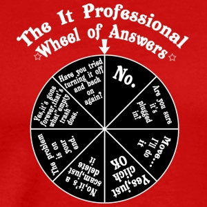 The it professional wheel of answers - Men's Premium T-Shirt