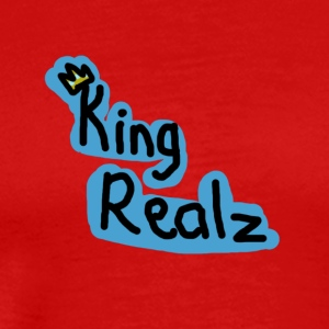 KingRealzMerch[TEXT] - Men's Premium T-Shirt