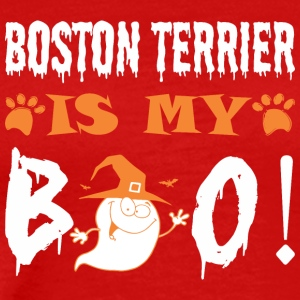 Boston Terrier Is My Boo Happy Halloween - Men's Premium T-Shirt