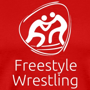 Freestyle_wrestling_white - Men's Premium T-Shirt