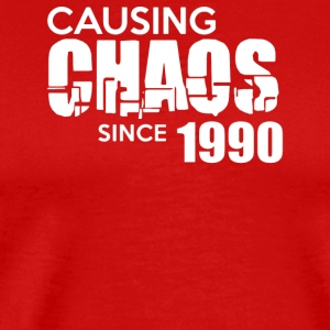 Causing Chaos Since 1990 - Men's Premium T-Shirt