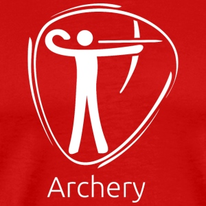 Archery_white - Men's Premium T-Shirt