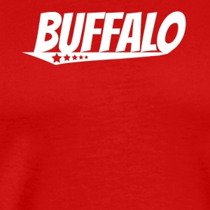Buffalo Retro Comic Book Style Logo - Men's Premium T-Shirt