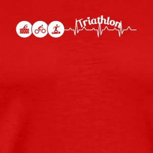 Triathlon Heartbeat Shirt - Men's Premium T-Shirt