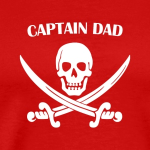 Captain Dad Pirate T-shirt For Daddy - Men's Premium T-Shirt