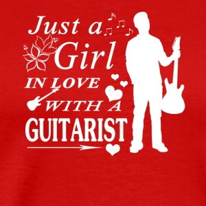 GIRL IN LOVE WITH GUITARIST SHIRT - Men's Premium T-Shirt