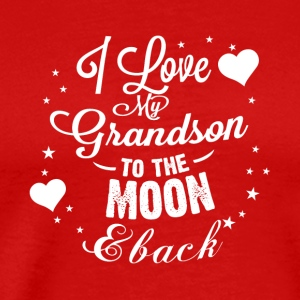 I love my grandson to the moon back - Men's Premium T-Shirt