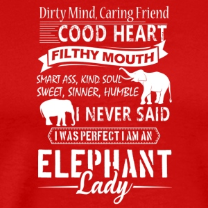 I Am An Elephant Lady Shirt - Men's Premium T-Shirt