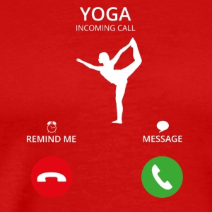 Call Mobile Anruf yoga meditation studio tanzen st - Men's Premium T-Shirt