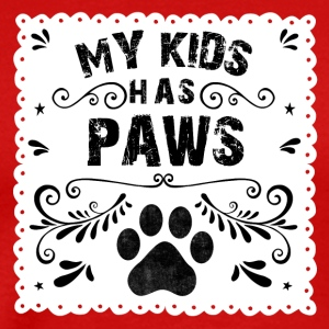 cat saying My kids has paws - Men's Premium T-Shirt