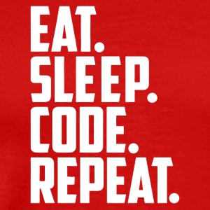 eat sleep code and repeat - Men's Premium T-Shirt