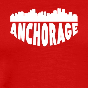 Anchorage AK Cityscape Skyline - Men's Premium T-Shirt