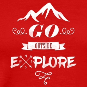 Go outside, EXPLORE. - Men's Premium T-Shirt