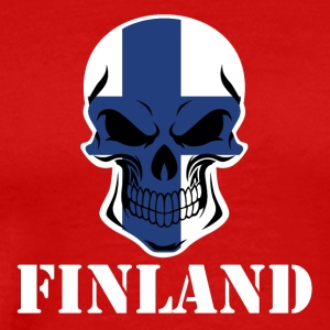 Finnish Flag Skull Finland - Men's Premium T-Shirt