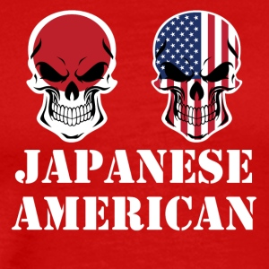 Japanese American Flag Skulls - Men's Premium T-Shirt
