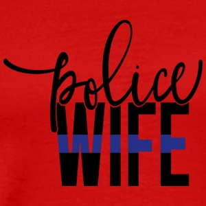 Police wife with thin blue line - Men's Premium T-Shirt
