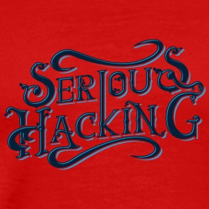 serious hacking decoration design - Men's Premium T-Shirt