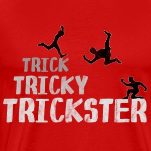 tricky Trickster jumping high building flip - Men's Premium T-Shirt