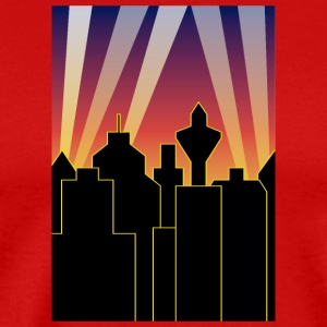 city sky and lights - Men's Premium T-Shirt