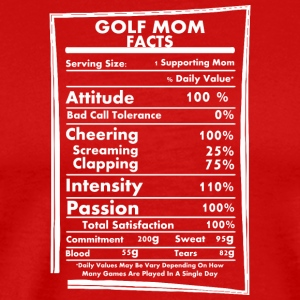 Golf Mom Facts Daily Values May Be Vary - Men's Premium T-Shirt