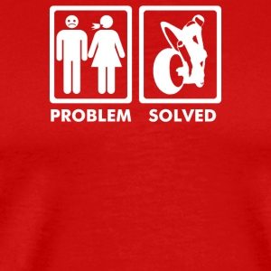 Problem Solved Biker Motorbike - Men's Premium T-Shirt