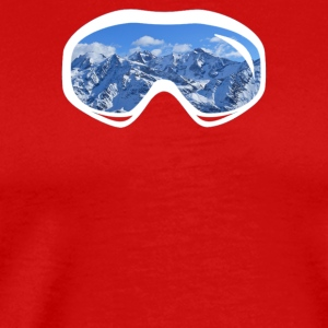 Ski Goggles Mountain Snowboard - Men's Premium T-Shirt