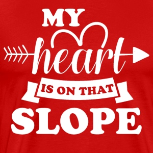 My heart is on that slope - Men's Premium T-Shirt