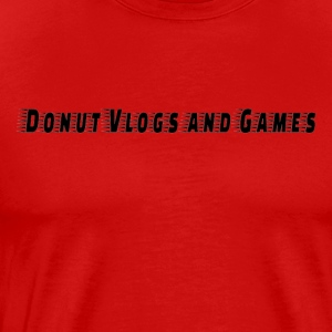 Donuts vlogs and games - Men's Premium T-Shirt