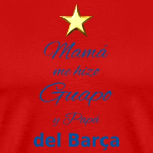 My son is Guapo del barça - Men's Premium T-Shirt