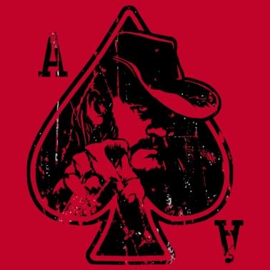 34a2b9a4 Distressed Ace Of Spades Graphic - Men's Premium T-Shirt