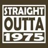 42nd Birthday T Shirt Straight Outta 1975 - Men's Premium T-Shirt