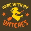 HERE WITH MY WITCHES witch on a broomstick - Men's Premium T-Shirt