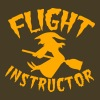 witch on a broomstick flight instructor HALLOWEEN - Men's Premium T-Shirt