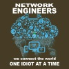 Network Engineer Connect The World One Idiot Shirt - Men's Premium T-Shirt
