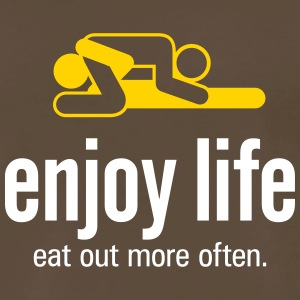 Enjoy Life. Eat Out More Often! - Men's Premium T-Shirt