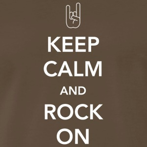 Rock - Keep Calm and Rock On - Men's Premium T-Shirt