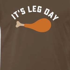 Funny thanksgiving turkey leg day tshirt - Men's Premium T-Shirt
