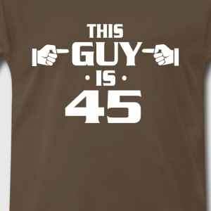 45th birthday shirts - Vintage 1972 birthday shirt - Men's Premium T-Shirt