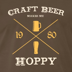 CRAFT BEER makes me hoppy! - Men's Premium T-Shirt